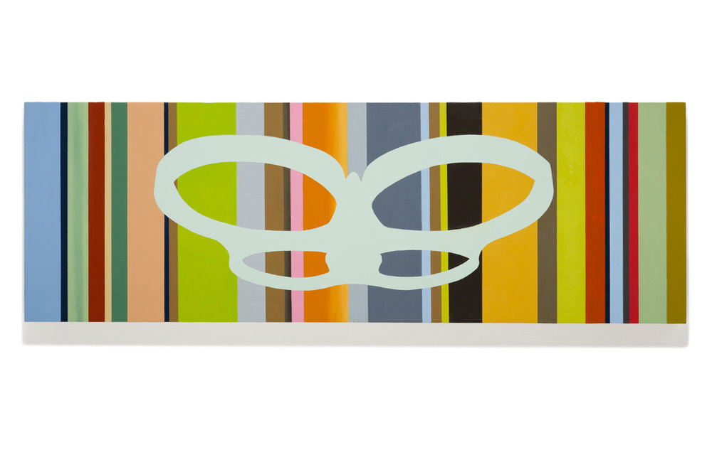 "Organic Drone   Oil on wood 12"" x 36"" 2017"
