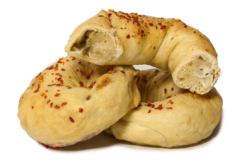 Creamy Jalapeno Stuffed Bagel