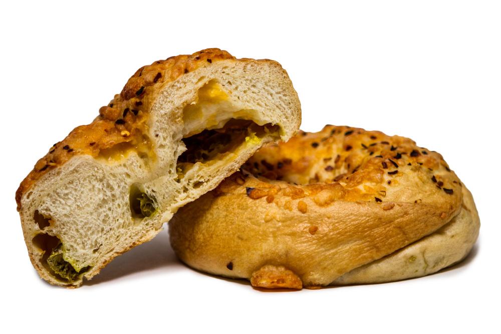 ChedderPeno Stuffed Bagel
