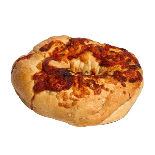 3 Cheese Pizza Stuffed Bagel