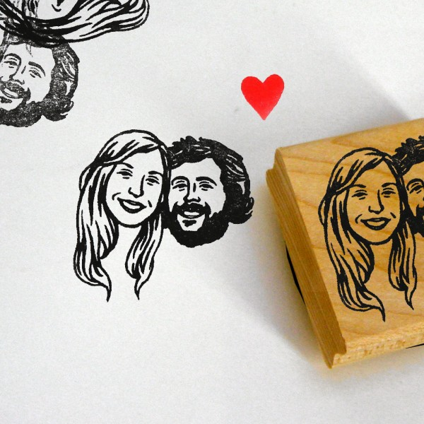 Self inking stamps / custom couple portrait