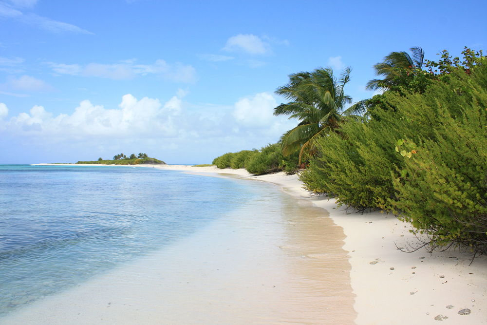The uninhabited island of Cayo Bolívar, some 25 kilometers from the island of San Andrés. Source: Flickr: land, sweet land, available here .