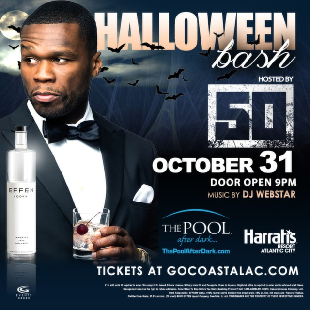 Halloween is coming soon! 50 Cent is hosting the party!  Get your early bird tickets now or call 844-VIP-POOL to reserve your VIP section!  http://bit.ly/1OCTsz7  #harrahsac #poolafterdark #doac #murmur #goldennugget #borgataac #borgata #harrahspool #harrahspoolac #vip #jersey #nj #ny #philly #newjersey #guestlist #ac #party #drinks #shots #gocoastal #gocoastalac #bottleservice #nightlife #club #summer #halloween #costume #dressup #scary