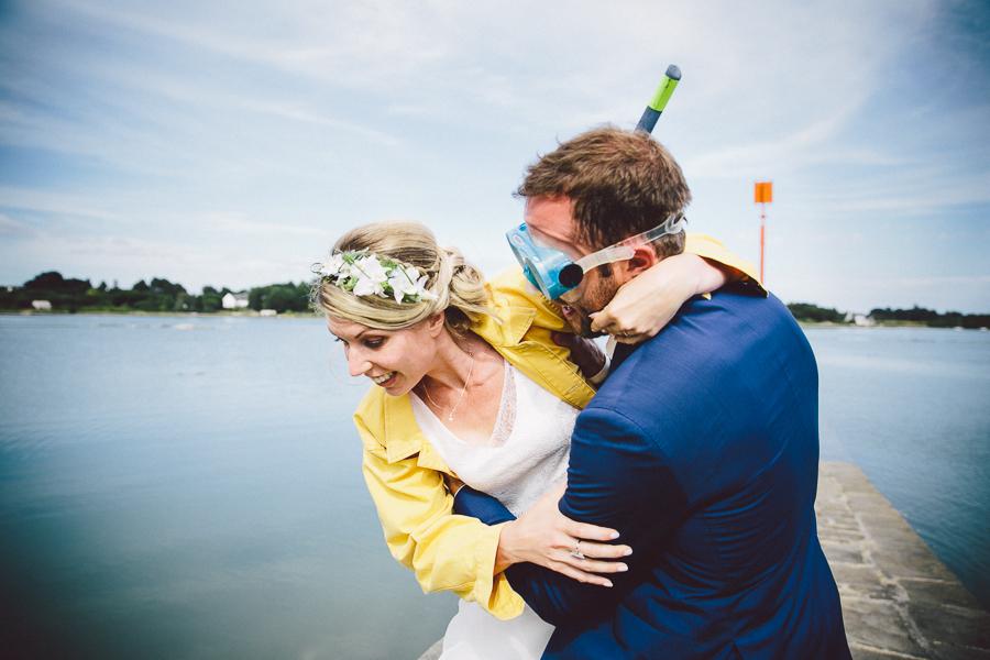 couple mariés humour domaine de richebois