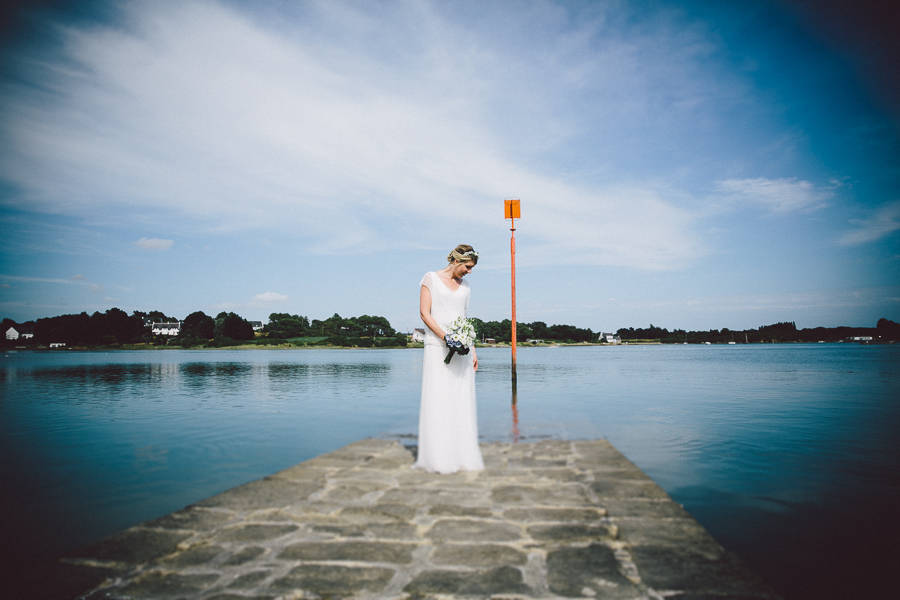 mariée ponton morbihan photographe bretagne