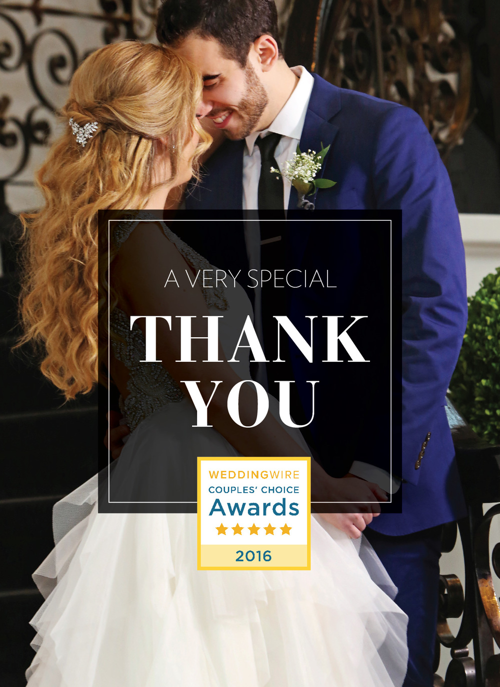 Sebastian Photography Studio WeddingWire Couples' Choice Award 2016
