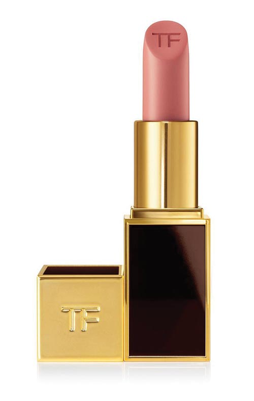 "Tom Ford Indian Rose lipstick, discovered on a Manhattan trip, is bought ""two or three at a time."""