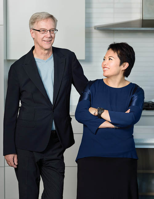 John Henshaw, architect and Joy Chao, interior designer, at home in Gastown.