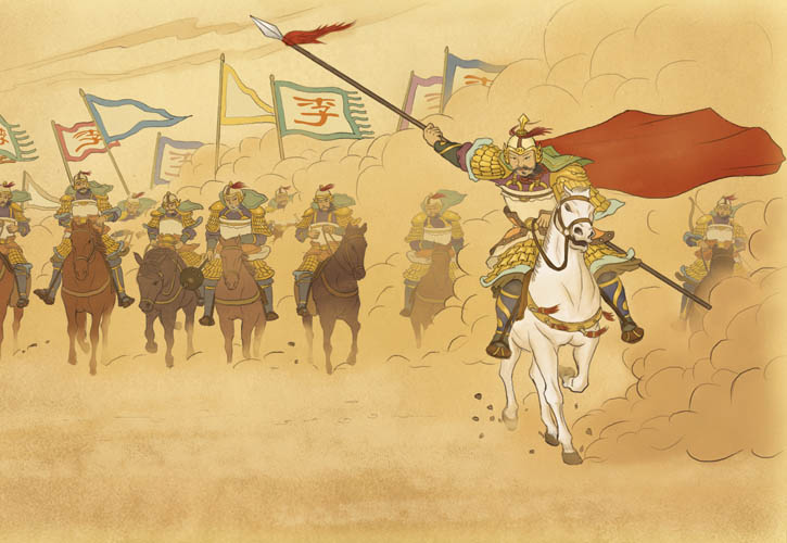 In 629 AD, the Tang emperor dispatched a force of over 100,000 soldiers to eliminate the northern threat posed by the Eastern Tujue, a clan of Turks led by Jiali Khan. Li Jing led a surprise contingent of 3,000 cavalry, capturing cities and paralyzing their armies.