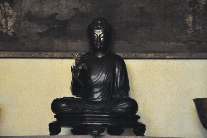The Buddha is the pinnacle of enlightenment in Chinese philosophy. This one, in pure black, one of Chanel's favourite colours, still sits on her shelf.