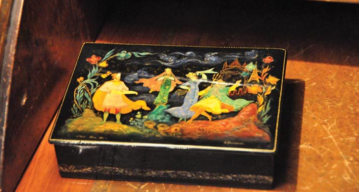 We love dreaming about what Coco Chanel kept in this colourful Oriental-style box.