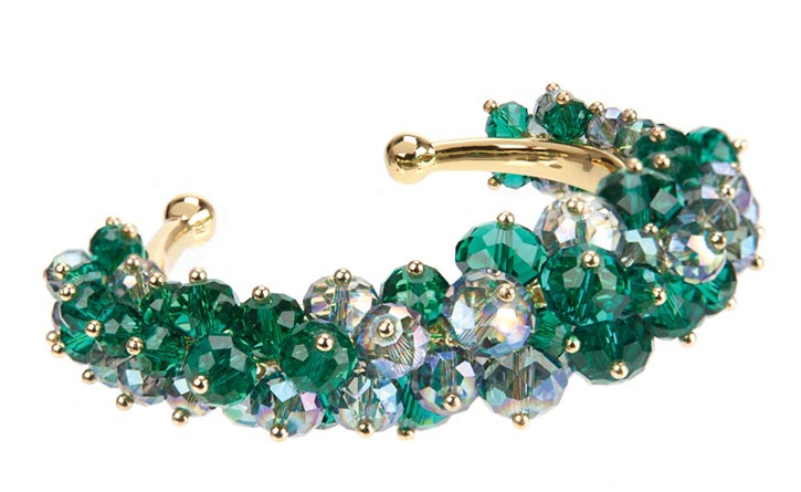 Ted BakerJanette Beaded Cluster Cuff US$99