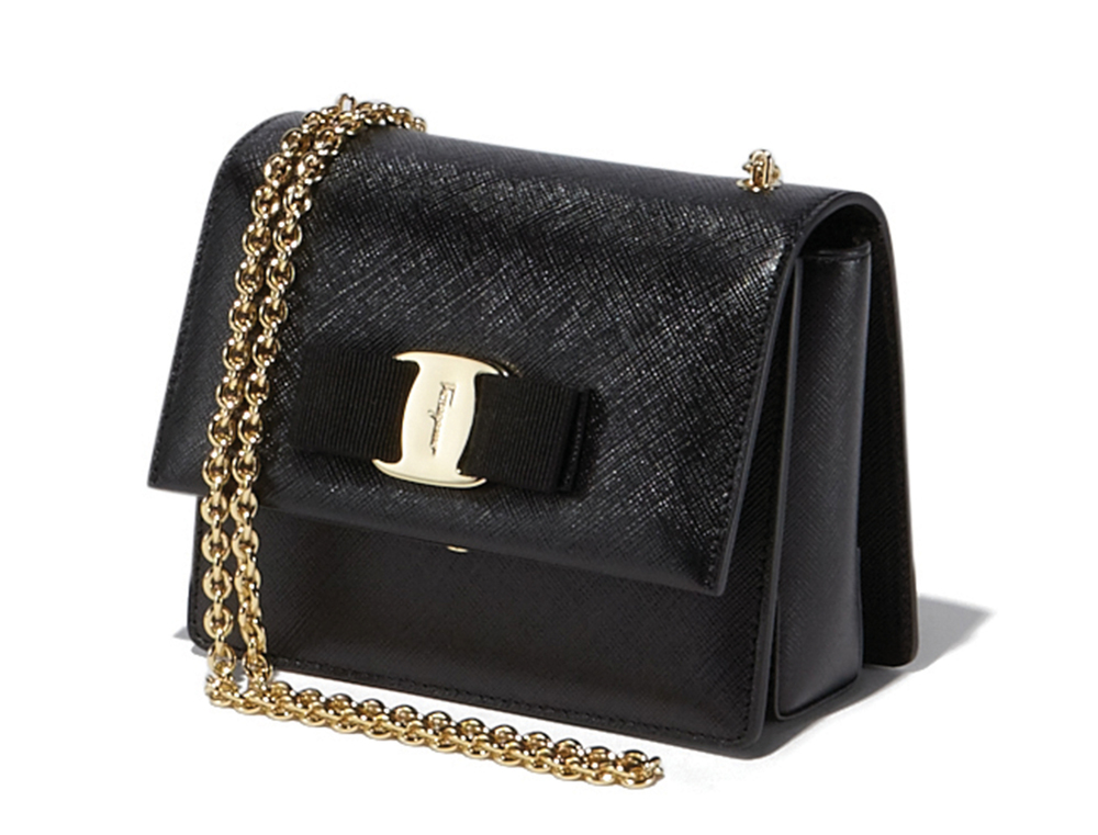 Salvatore Ferragamo Mini Vara Flap Bag$850