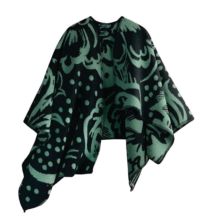Burberry Thistle Motif Blanket Poncho  $1,550