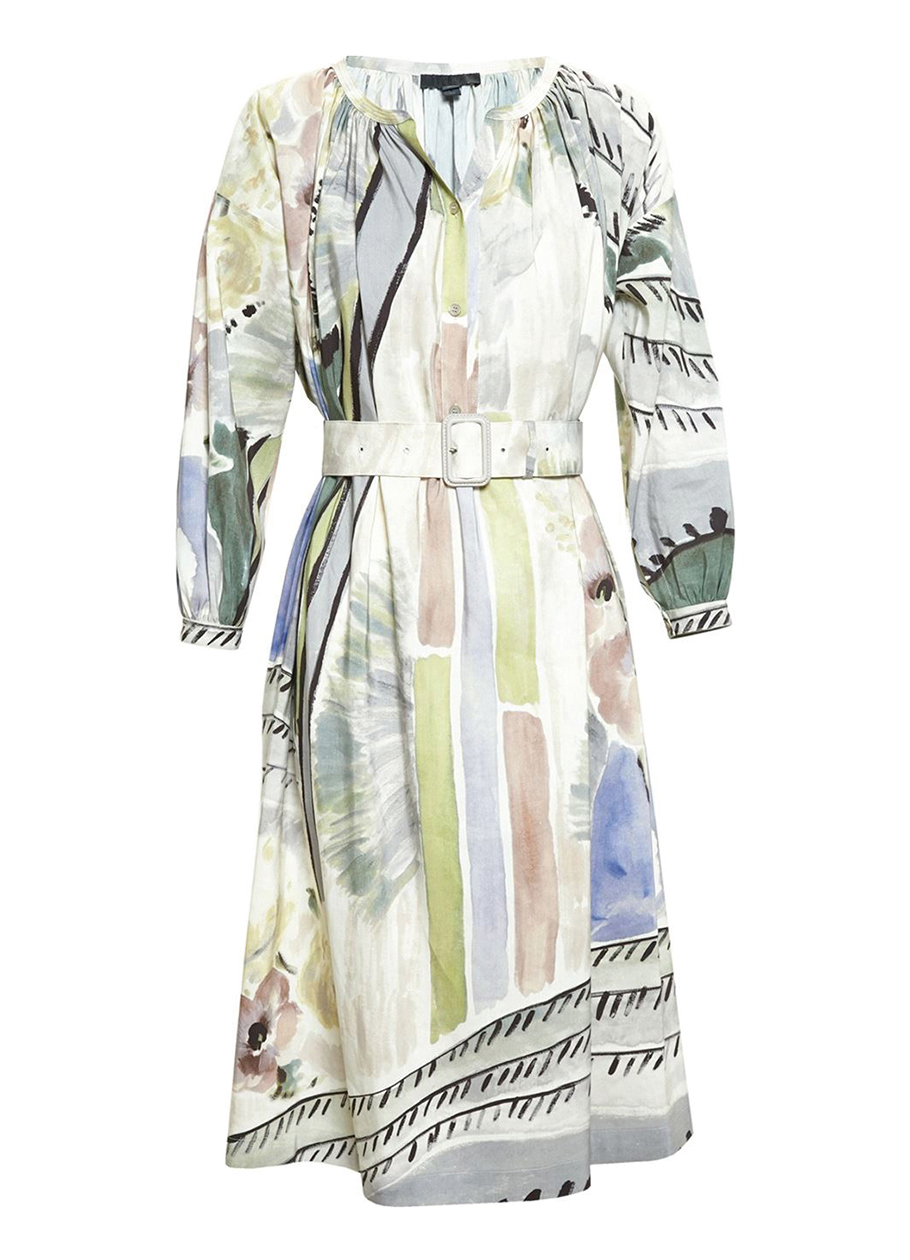 Burberry Floral Print Silk Linen Smock Dress $3,295