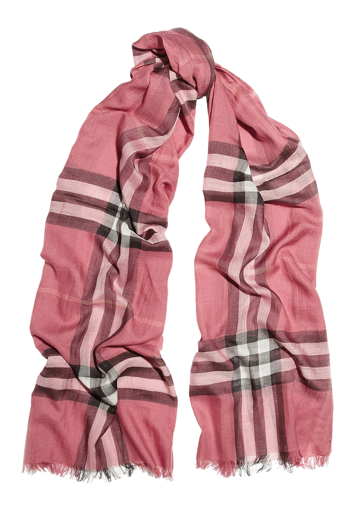 Burberry Check Wool Silk Scarf $435