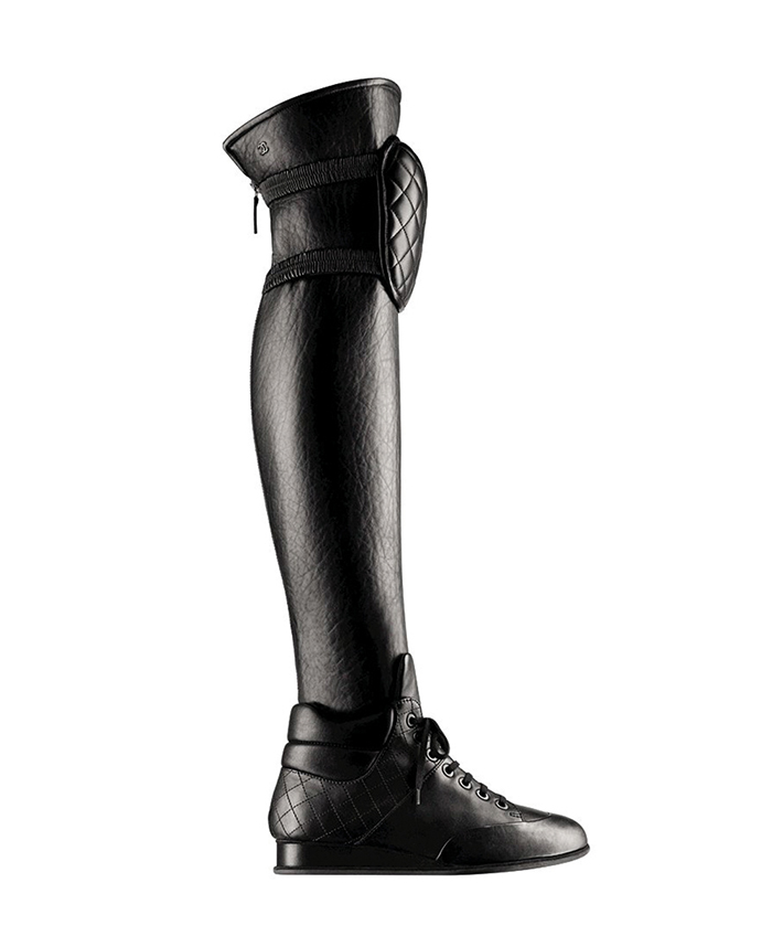 Chanel Black leather Sneaker High Boot, Price Upon Request