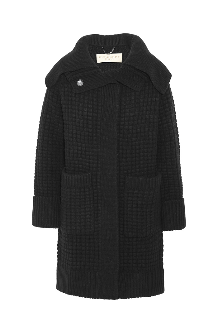 Burberry Wool Cashmere Knit Cardigan Coat $1,095