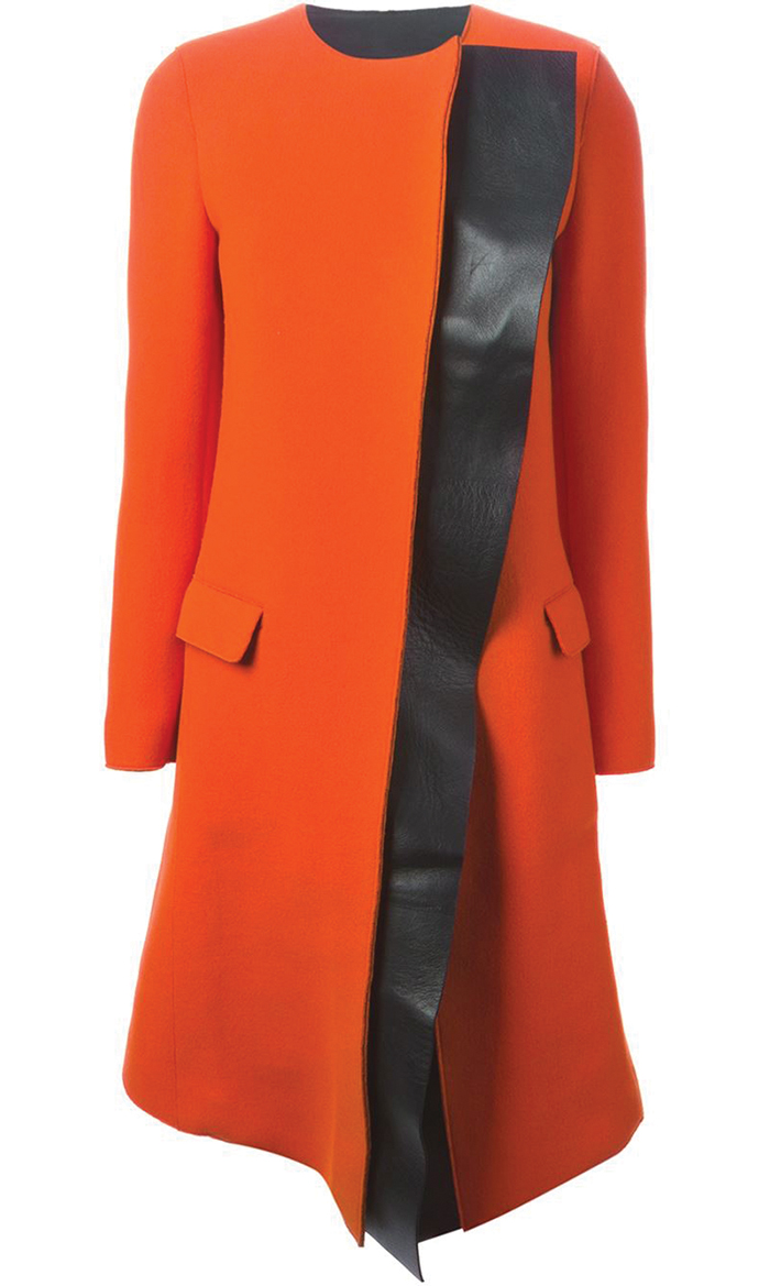 Neil Barrett Panelled Bi-colour Overcoat $2,383