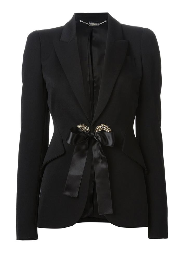 Alexander McQueen Embellished Bow Jacket$3,488