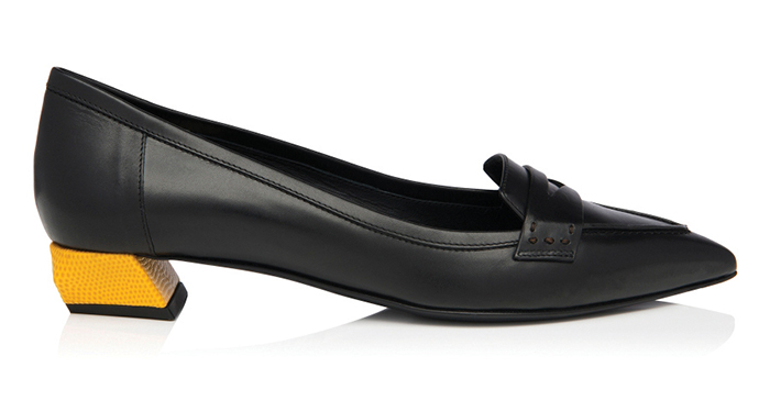 Fendi Bicolored Pointed Loafer $710
