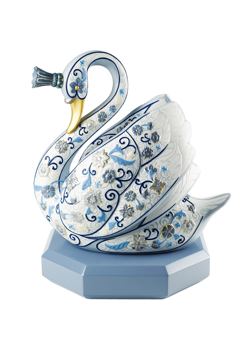 Upon Request Lladró The Swan Princess (Enamels) $4,550