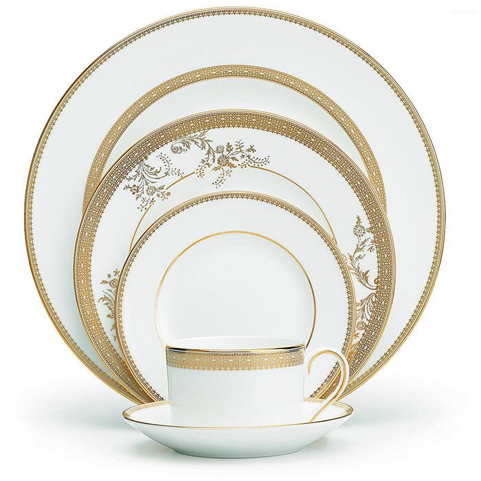 Wedgwood Vera Wang Lace Gold, 5 Pc. Place Setting$165 atkinsonsofvancouver.com604 736 3378