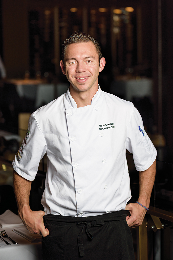 "Chef with a passion for his vocation: ""Being able to make people feel good is rewarding,"" says Chef Ryan Gauthier."