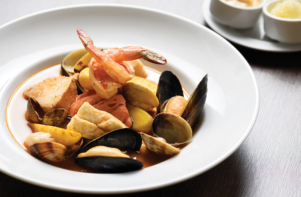 Light, sprightly, fresh and inspirational aptly define Chef Quaglia's signature dish — the Bouillabaisse —Chef's Bio: Born into the gastronomic world, with his mother as Chef Suzanne Quaglia at the Marseilles' well-known Restaurant Le Patalain. Quaglia trained at the École Hôteliere de Marseilles. After amassing extensive experience in France, he began his Canadian culinary career at Le Coq D'Or and the Sheraton Wall Centre Hotel before opening his own restaurants. Quaglia co-authored a cookbook, New World Provence – Modern French Cooking for Friends and Family.