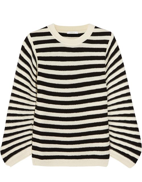 Chloé Striped Textured Wool Sweater US$995 net-a-porter.com