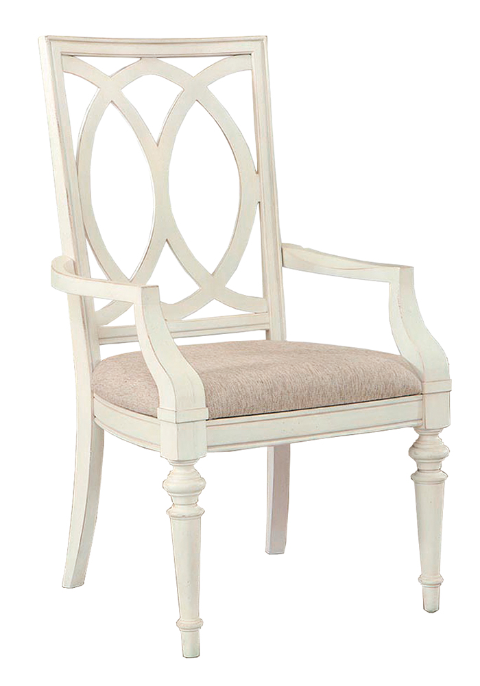 Bassett Furniture Highlands Pierced Back Arm Chair, $299  With a 19th-Century European influence,  this armchair emanates comfort and simplicity with its graceful arches on the chair back, armrests and legs.