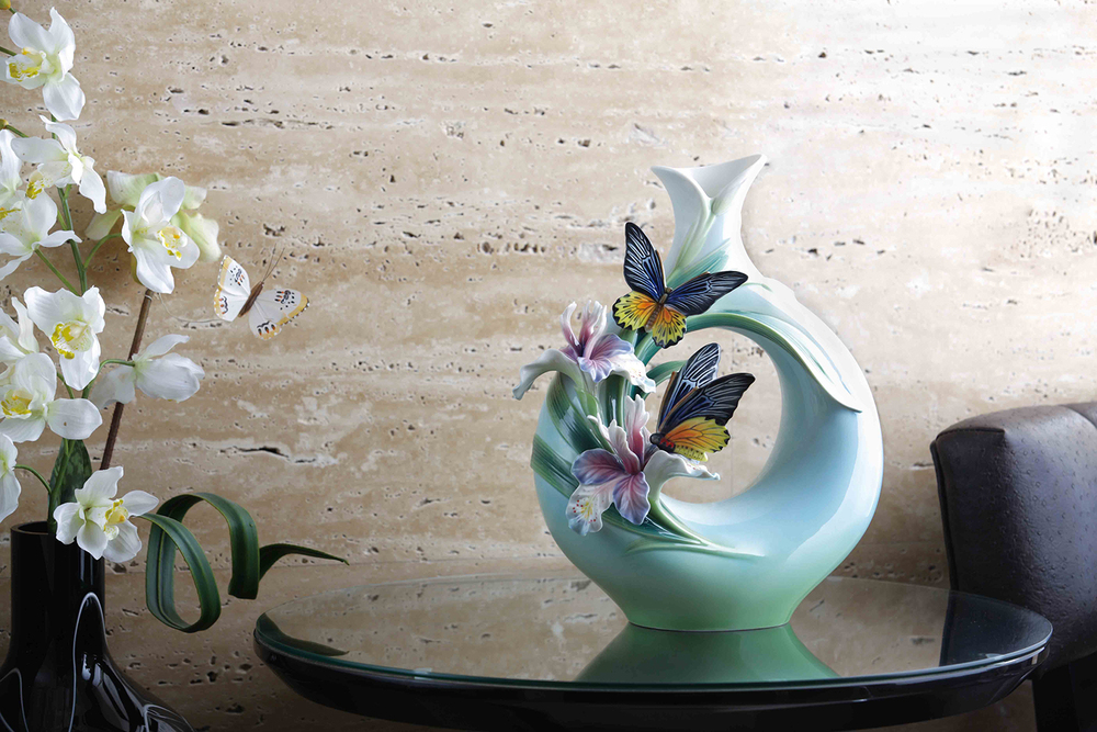 Exquisite   Butterfly   vase in Art Nouveau style.