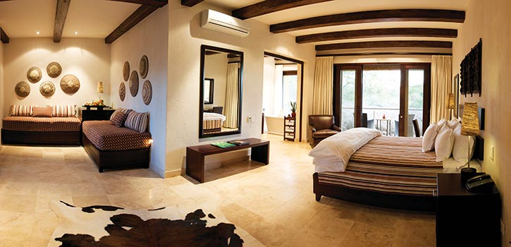 The Kapama Family Suites epitomize five-star safari accommodation with majestic views and separate twin-bedded rooms for children.