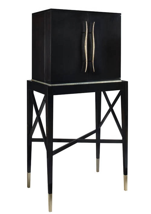 Baker Bar des Élixirs, Price Upon Request Revisiting French Art Deco, designer Jacques Garcia brings us a bar cabinet with a romantic air. Its lines are clean but humming with energy. At Brougham Interiors, 604 736 8822 broughaminteriors.com