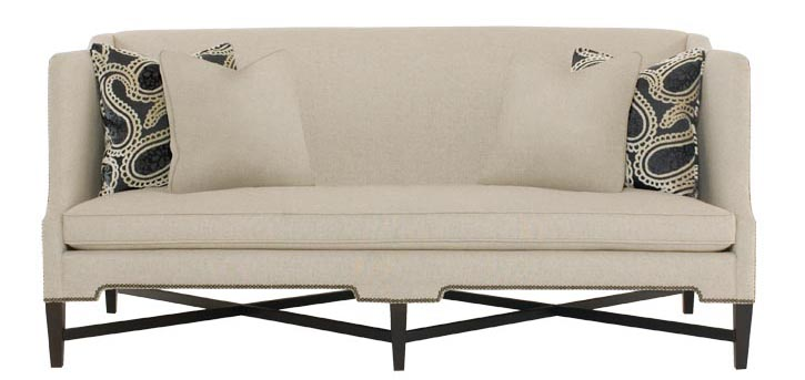 Bernhardt Cory Sofa, $2,395 Criss-crossing supports and rivets give this sofa a vintage feel and a sense of rhythm. Place it in a seaside-inspired sitting room for a stately touch. At Paramount Furniture, 604 273 0155 paramountfurniture.ca