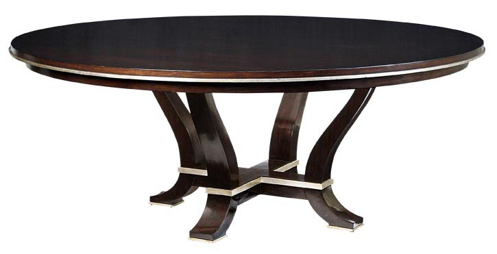 Marge Carson Design Folio Dining Table , $6,795 Round dining table with charming poise and bearing adds presence to any room. At Paramount Furniture  paramountfurniture.ca  604 273 0155