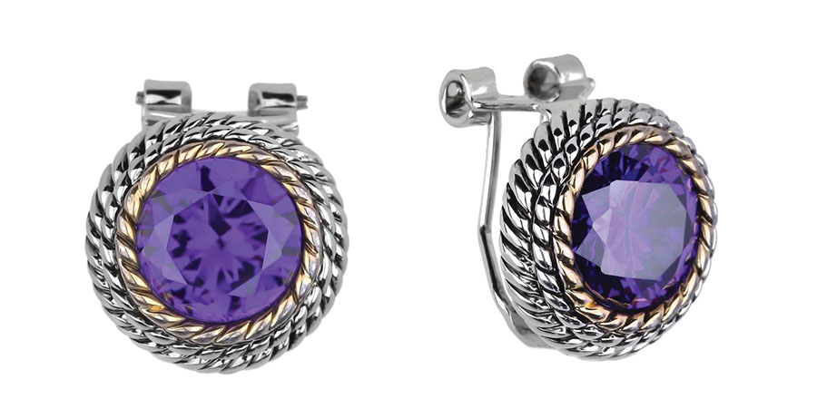Lugaro Amethyst Stud Earrings $1,440