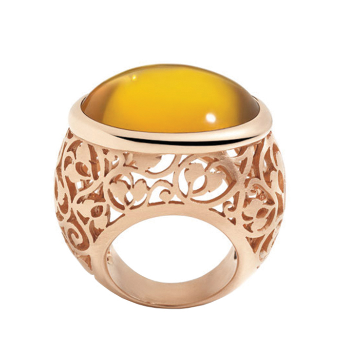 Pomellato Arabesque Ring in Rose Gold with Amber Price Upon Request
