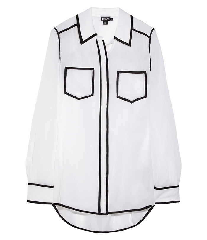 DKNY Contrast Piping Blouse $306