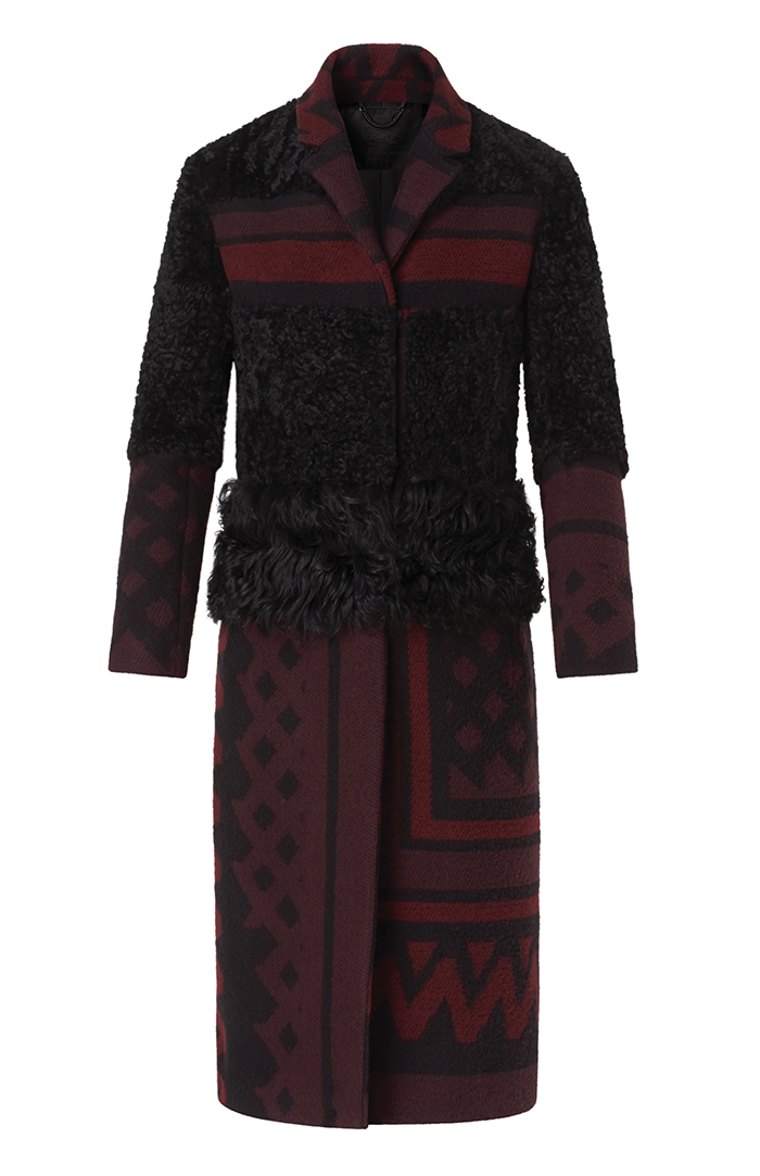 Burberry Shearling and Blanket Chesterfield Coat $ 4,395