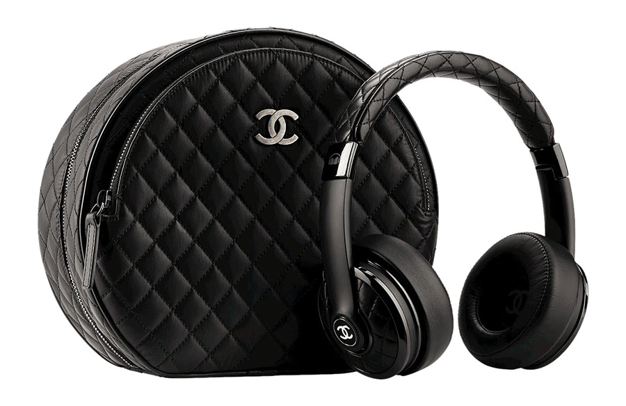 Chanel Leather Headphones with its Case Price Upon Rquest