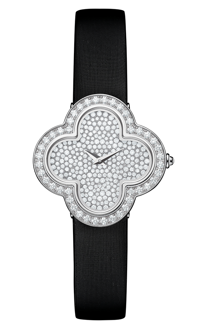 Van Cleef & Arpels Alhambra Diamond Watch - Small Model Shown Van Cleef & Arpels Watch $ 34,700