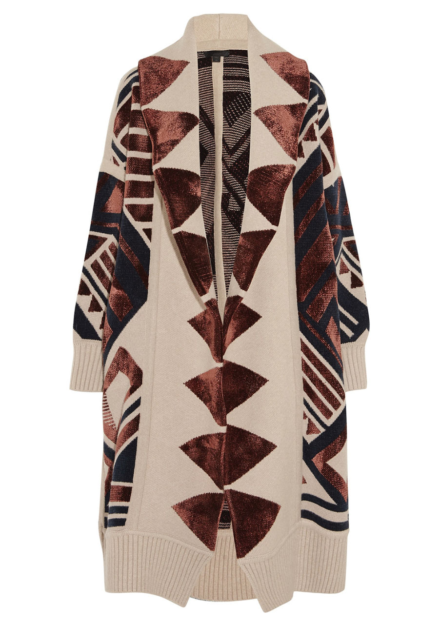 Burberry Geometric Knit Blanket Coat $5,500