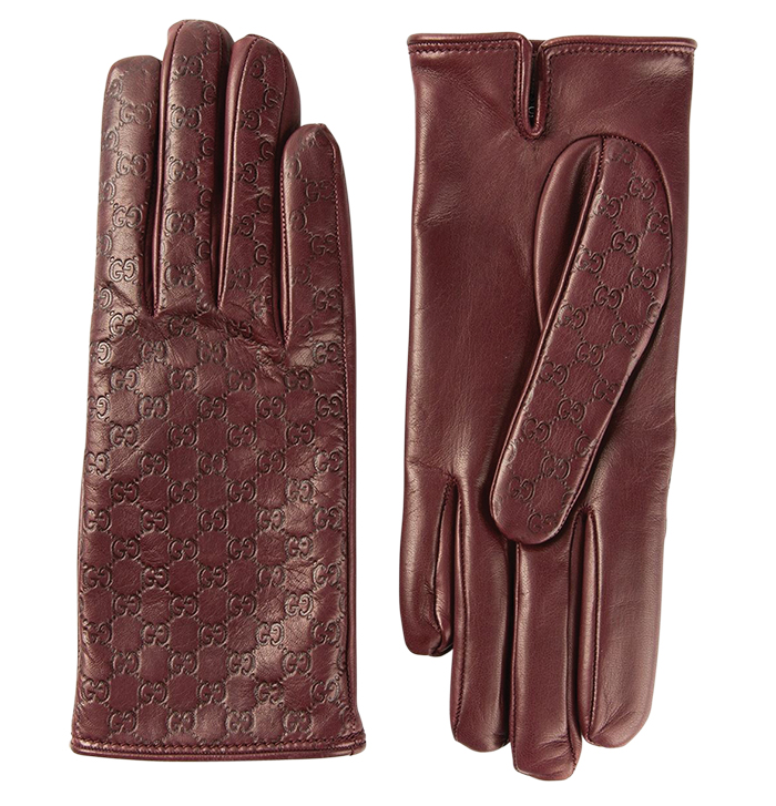 Gucci Microguccissima Leather Gloves $530