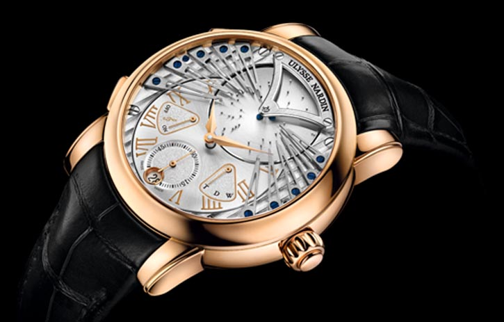 "Ulysse Nardin Stranger Five years of research and development created a watch which plays ""Strangers in the Night"" on demand and on its hourly chime.  Limited edition, 99 pieces. ulysse-nardin.com, At Lugaro, 604 430 2040"