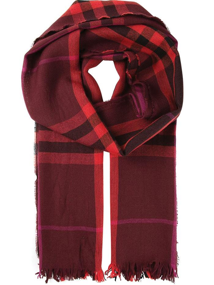 mens burberry scarf
