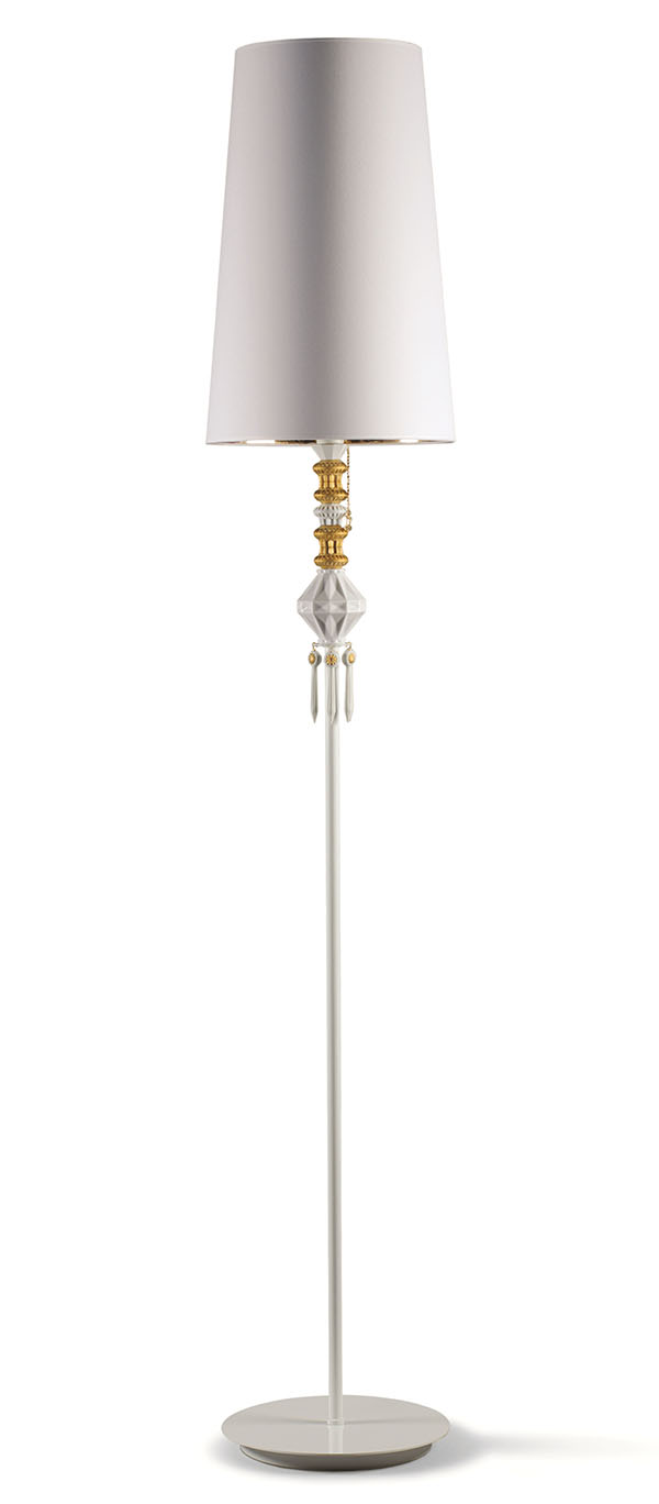 Lladró Floor Lamp $2,045 A necklace was no doubt the inspiration for this witty floor lamp that features a string of gold and white porcelain baubles. Lladro.com