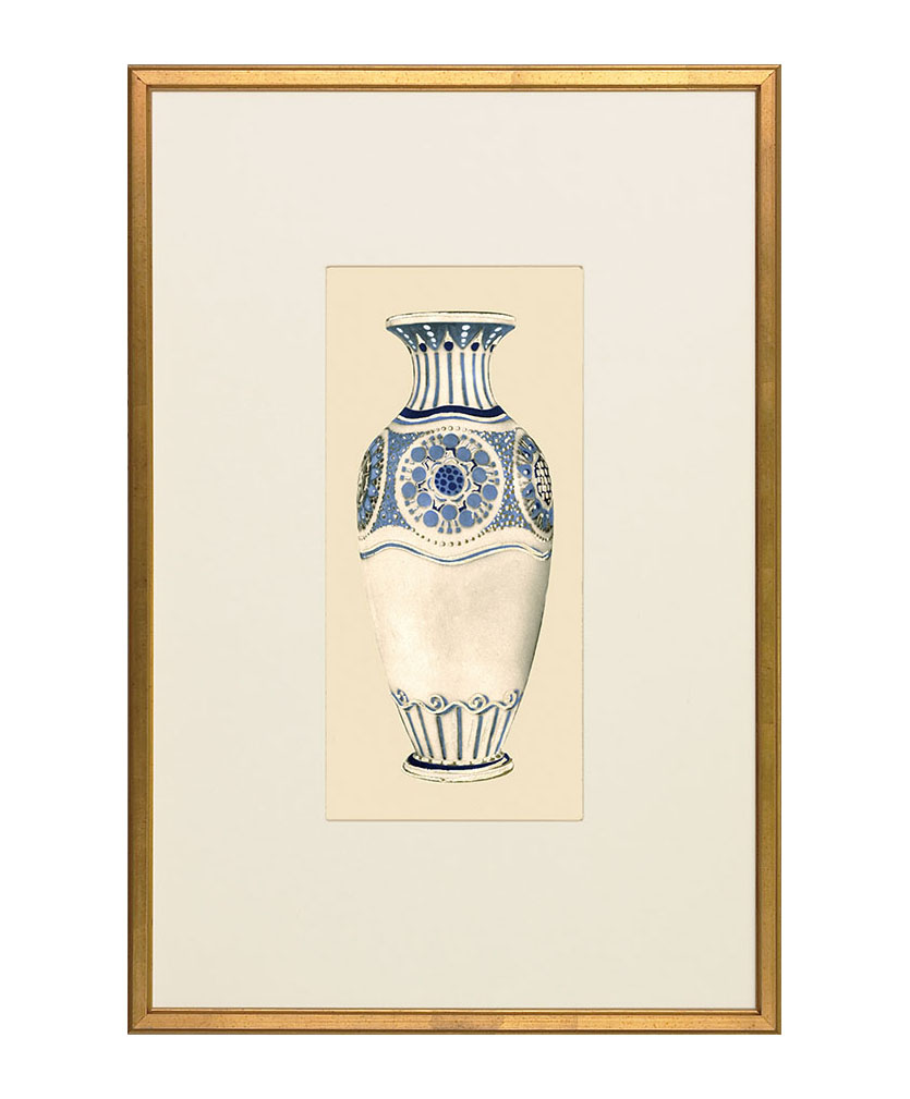Barrymore Art Nouveau Vase Giclee Print, $432 Standing alone, the winsome blue and white vase brings together all those who see it. At Jordans Interiors, 604 733 1174 jordans.ca
