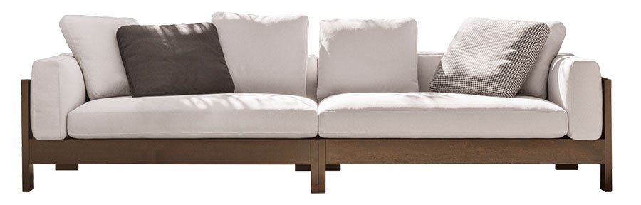 Minotti Alison Sofa, starting at $21,929 Combine light and dark, place it indoors or out, and recline in this sofa's beauty and comfort for a true sense of Zen. At Livingspace, 877 683 1116 livingspace.com