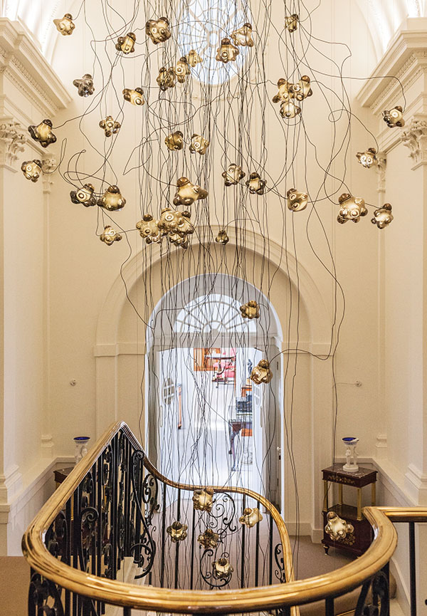 Chandelier from Collection 57, in Mallett Antiques' stairwell